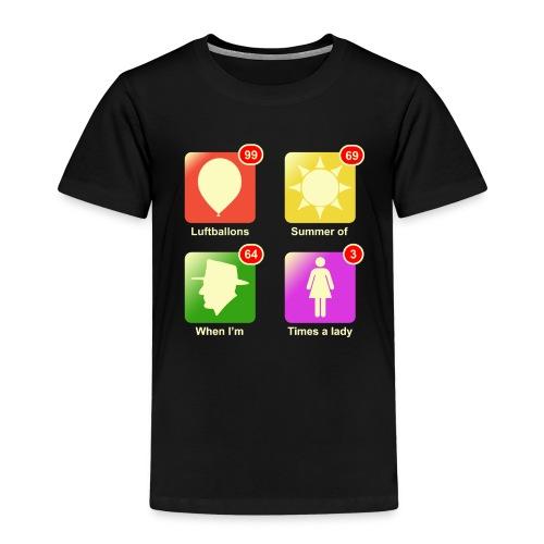 Muziek apps - Kinderen Premium T-shirt