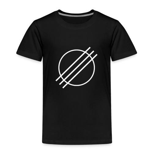 DJ Øyvind Offisiell Logo (hvit) - Premium T-skjorte for barn