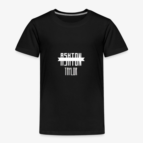 AshtonTaylor Merch Logo Modern White - Kids' Premium T-Shirt