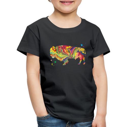 Colorsplash Bison - Kinder Premium T-Shirt