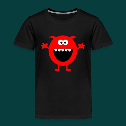 Lachendes Rotes Monster - Kinder Premium T-Shirt