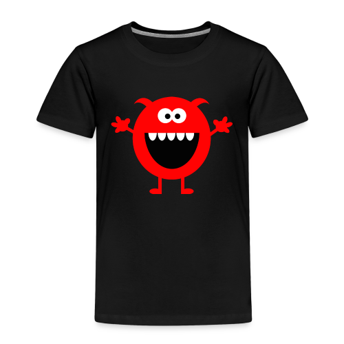 Lachendes Rotes Monster - Kinder Premium T-Shirt
