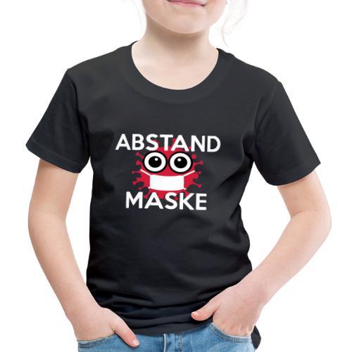 Mit Abstand und Maske gegen CORONA Virus- weiss - Kinder Premium T-Shirt