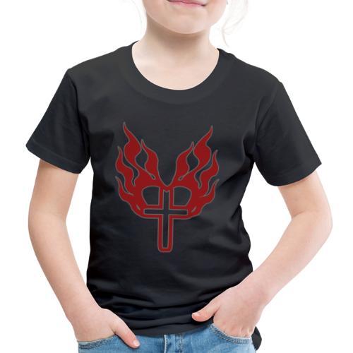 Cross and flaming hearts 02 - Kids' Premium T-Shirt