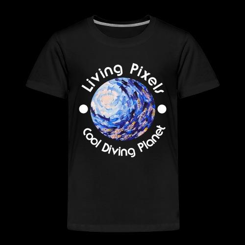 Living Pixels, Cool Diving Planet, Tauchen, hell - Kinder Premium T-Shirt