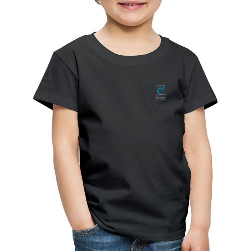 Little Owl Pictures Logo (weiß/blau) - Kinder Premium T-Shirt