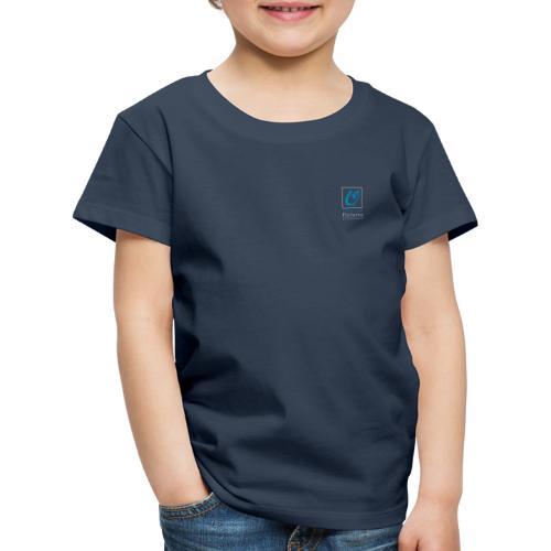Little Owl Pictures Logo (weiß/blau) - Kinder Premium T-Shirt