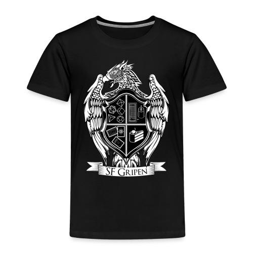 SF Gripen Stor Logga - Premium-T-shirt barn