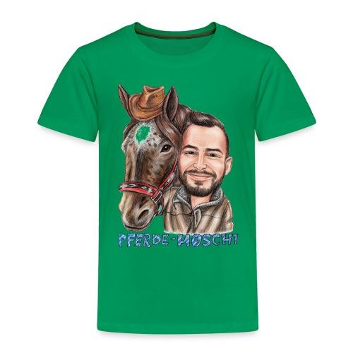 Pferde-Hoschi Kollektion hinten - Kinder Premium T-Shirt