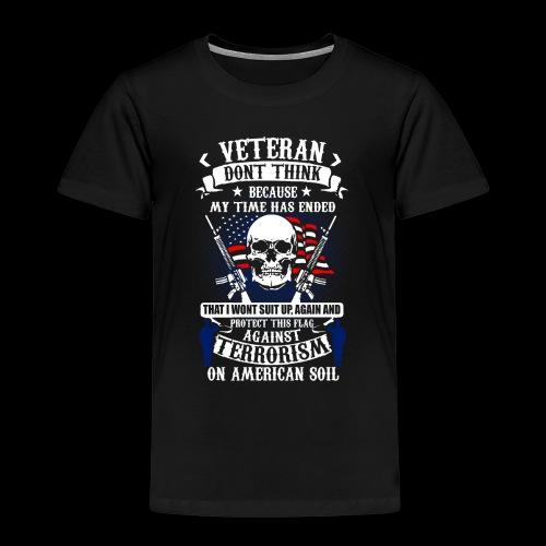 Veteran soldier terror terrorism skull army usa us - Kinder Premium T-Shirt