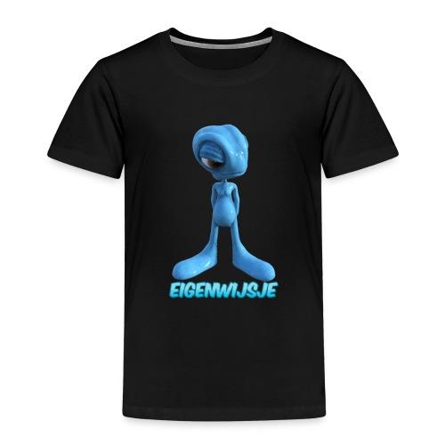 blauwe eigenwijze alien - Kinderen Premium T-shirt