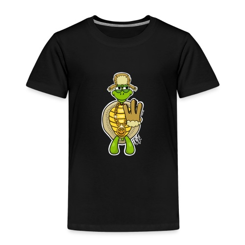 Winter West Coast Schildkröte / Hip-Hop Turtle - Kinder Premium T-Shirt