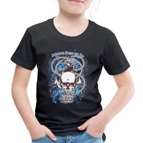 Skull Anker Design Art - Kinder Premium T-Shirt