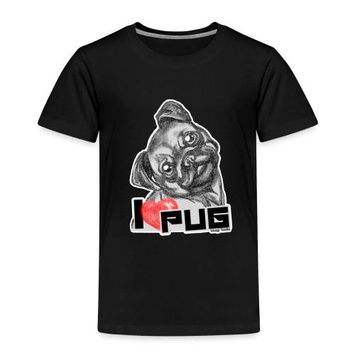 i love pug - Camiseta premium niño