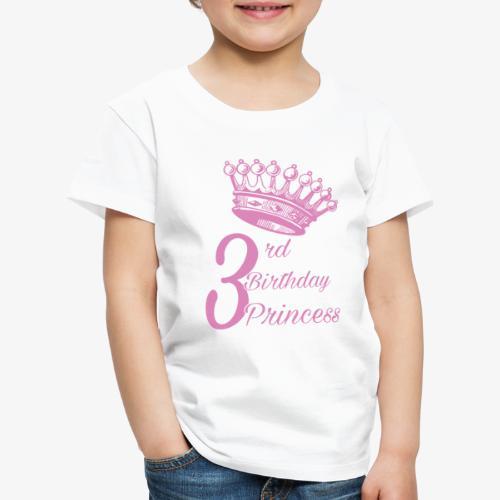 3rd Birthday Princess - Maglietta Premium per bambini