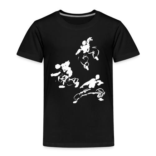Kung fu circle / ink fighter in motion - Kids' Premium T-Shirt