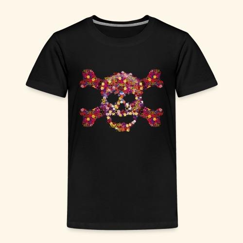 Crâne fleuri - T-shirt Premium Enfant