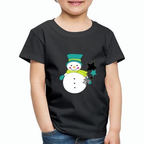 Snowtime-Green - Kinder Premium T-Shirt