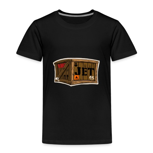 Jet Cartoon Wood Box - Kinder Premium T-Shirt