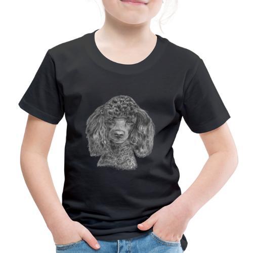 poodle-black-P - Børne premium T-shirt
