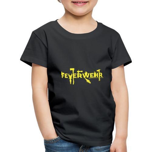 Feuewehr THREE gelb - Kinder Premium T-Shirt