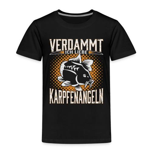 Ich Liebe Karpfen angeln - Kinder Premium T-Shirt