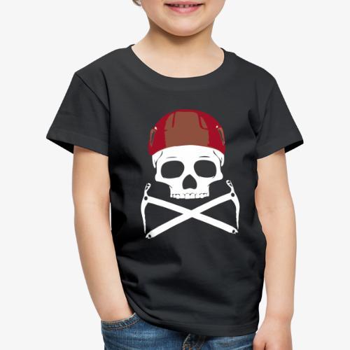 Climber Pirats skull white - Kids' Premium T-Shirt