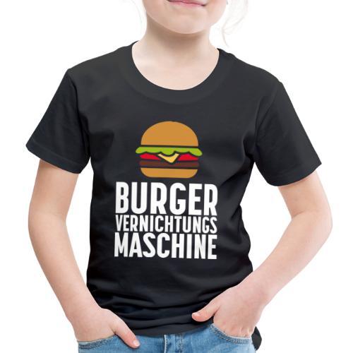 Burger Fanshirt Hamburger Grillen Burgerfreak - Kinder Premium T-Shirt