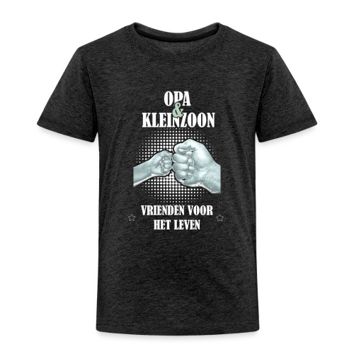 Opa & Kleinzoon vrienden voor het leven - Kinderen Premium T-shirt