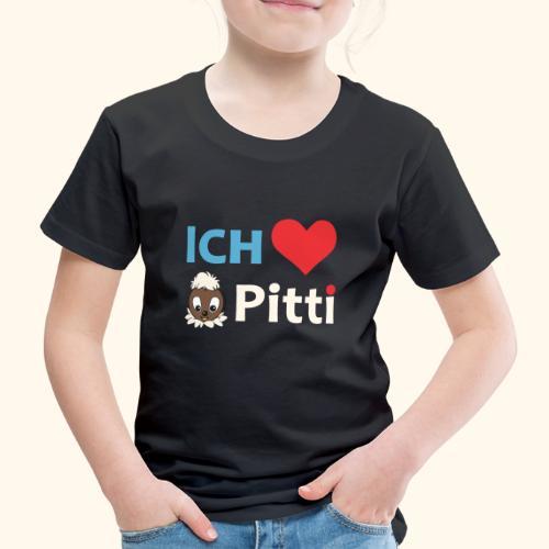 Pittiplatsch Ich liebe Pitti auf dunkel (blau/crem - Kinder Premium T-Shirt