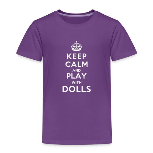 KeepCalmAndDollsVer2 - Kinder Premium T-Shirt