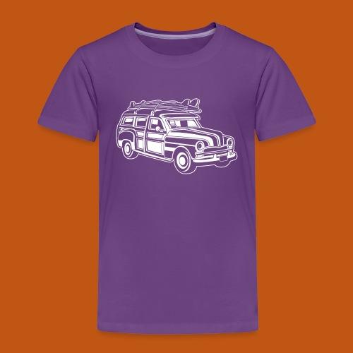 Chevy Cadilac Woodie / Oldtimer Kombi 01_weiß - Kinder Premium T-Shirt