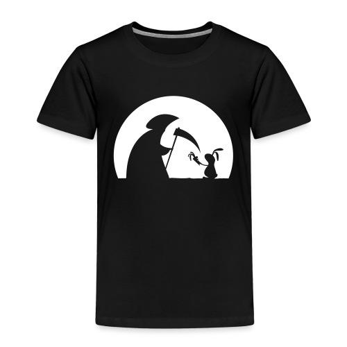 Hase Kaninchen Möhre Tod Sensenmann Karotte bunny - Kinder Premium T-Shirt
