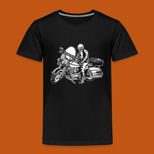 Chopper / Motorrad 05_weiß - Kinder Premium T-Shirt