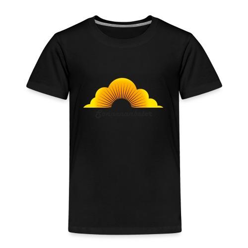 Sonnenanbeter schwarz - Kinder Premium T-Shirt