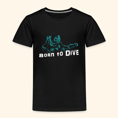 ScubaBornToDive001 - Kinderen Premium T-shirt