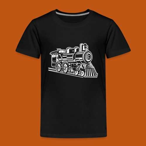 Lokomotive / Locomotive 01_weiß - Kinder Premium T-Shirt