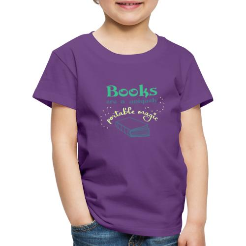 0028 books are unique magic | reader - Kids' Premium T-Shirt