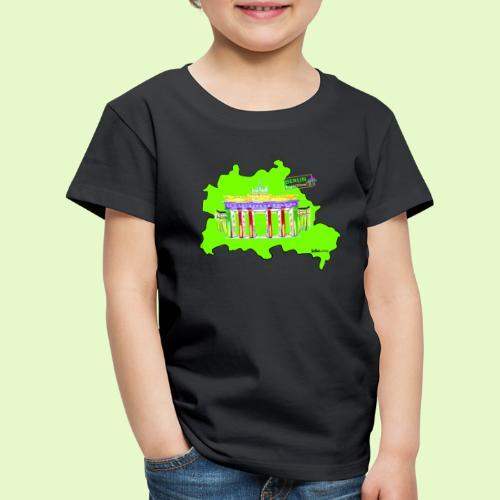 Berlin ist grün und bunt / BerlinLightShow - Kinder Premium T-Shirt