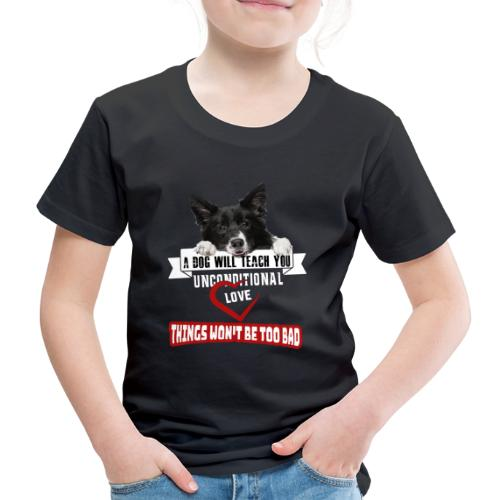 Border Colli Bedingungslose Liebe - Kinder Premium T-Shirt