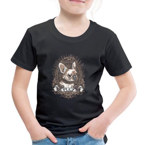 Mops Möpse Hund Hunde Portrait Vintage Retro Pugs - Kinder Premium T-Shirt