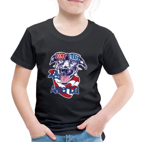 Hund und Hunde segnen Amerika Illustration - Kinder Premium T-Shirt