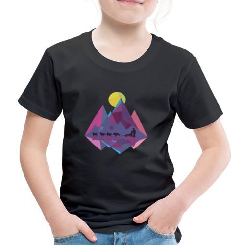 Schlittenhund Schlitten Huskey Hunde Schlitten - Kinder Premium T-Shirt