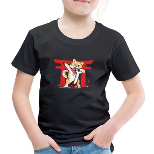 Japanischer Akita Hund mit Dab Pose - Kinder Premium T-Shirt