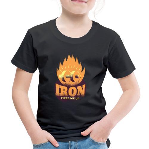 Eisen Feuer feuert mich an Bodybuilding Fitness - Kinder Premium T-Shirt