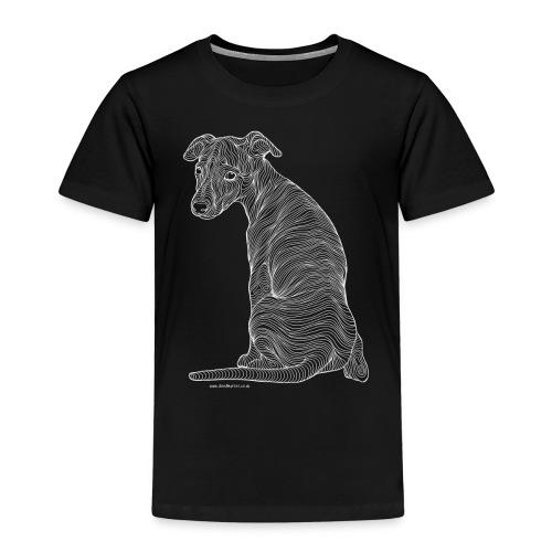 Whippet white line - Kids' Premium T-Shirt