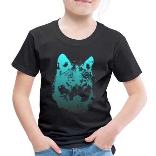 illustration tete de loup - T-shirt Premium Enfant