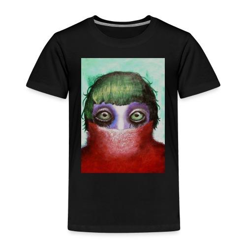 Big green eyes are watching - Kinder Premium T-Shirt