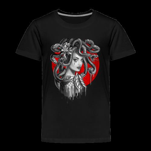 Snake Head Girl Medusa - Kids' Premium T-Shirt