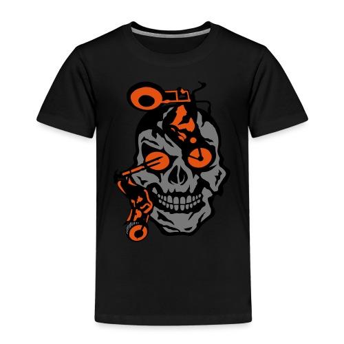 tete mort moto motrocycle oeil skull - T-shirt Premium Enfant